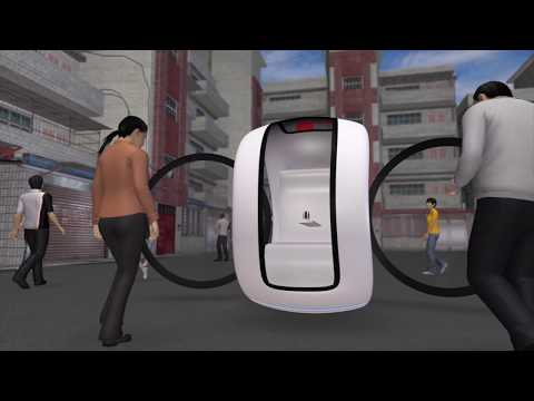 floating car  hovers   streets  china youtube