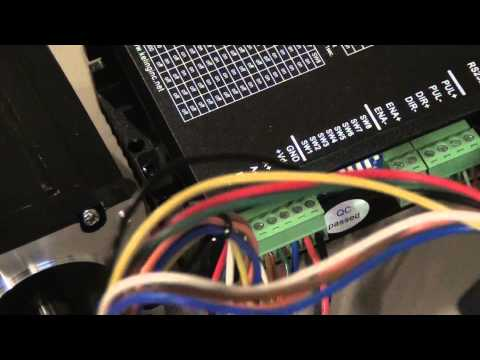 g0704 cnc conversion 04 - wiring c11 break out board, steppers, drivers,  power supplies - youtube