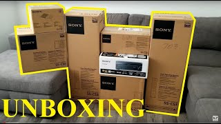 SONY Sound System 7.2 Channel Receiver STR-DN1080 & Speakers SS-CS3 Surround Sound UNBOXING