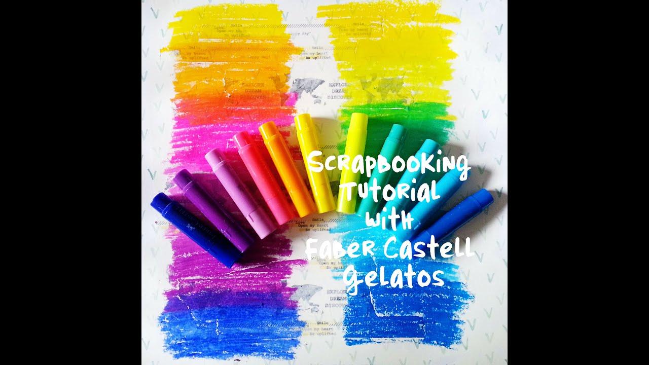 scrapbooking mixed media tutorial faber castell design