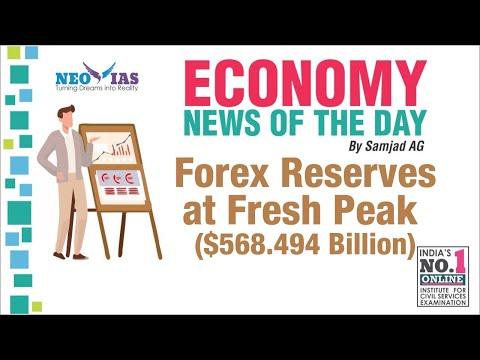 FOREX RESERVES AT FRESH PEAK ($568.494 Billion) | GOLD/RESERVE TRANCHE | ECONOMY NEWS | NEO IAS