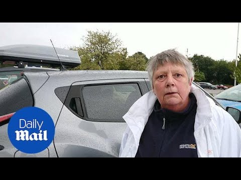 Woman Attacks Cameraman After Driving The WRONG Way In Car Park!