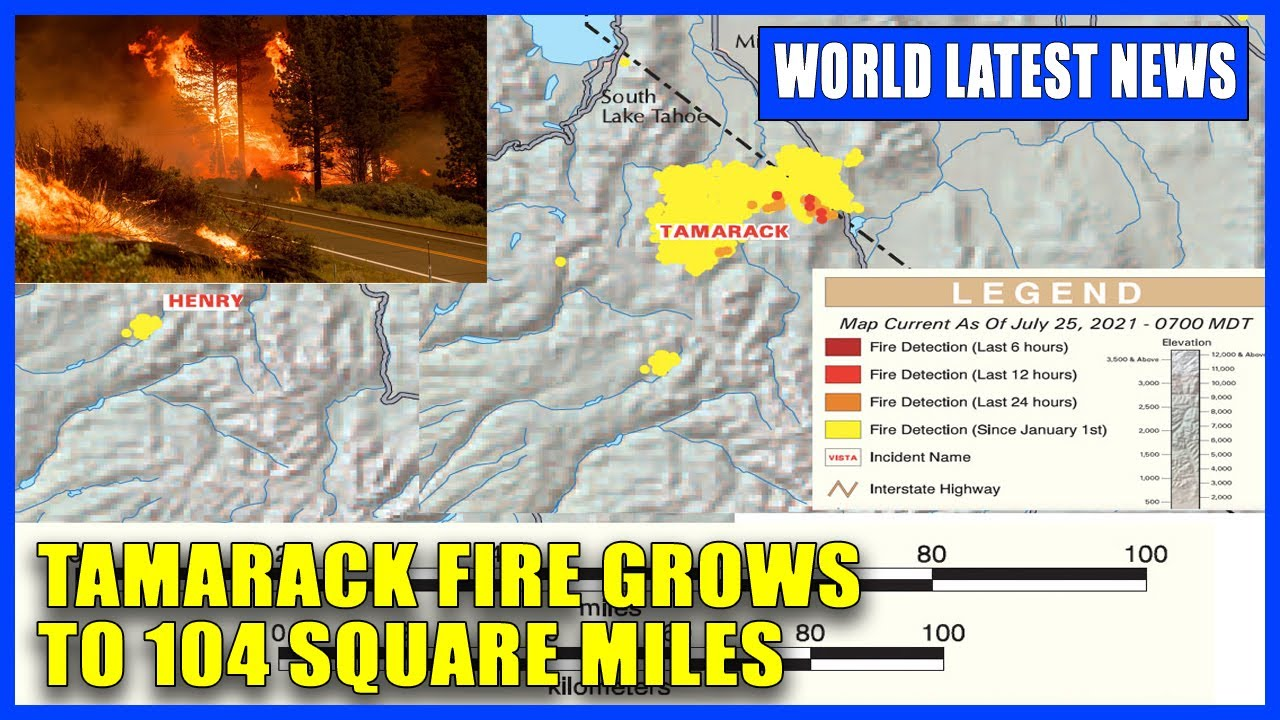 Tamarack Fire in Alpine County Updates for Sunday, August 1, 2021