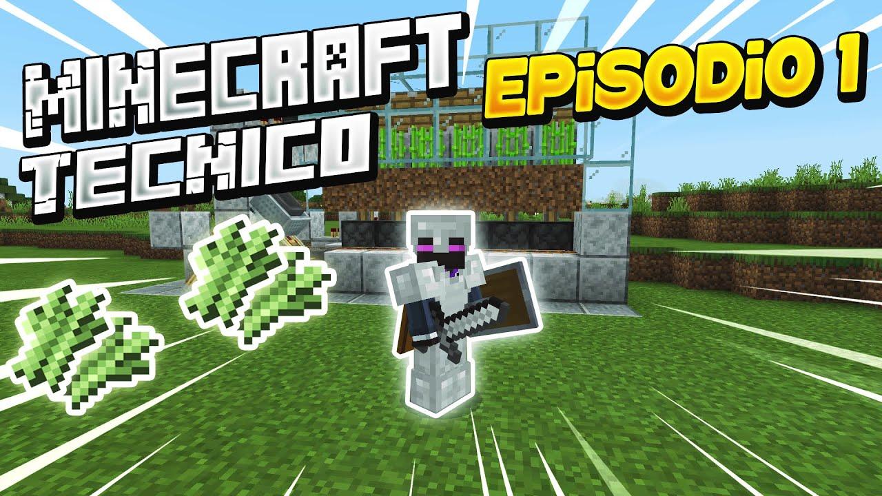 Minecraft Bedrock Técnico Capitulo 1 - YouTube