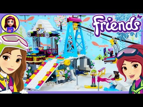 LEGO Friends Snow Resort Ski Lift Build Review Silly Play Kids Toys