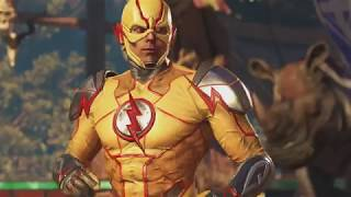 all reverse flash dialogue intros vs supergirl powergirl green arrow dr fate