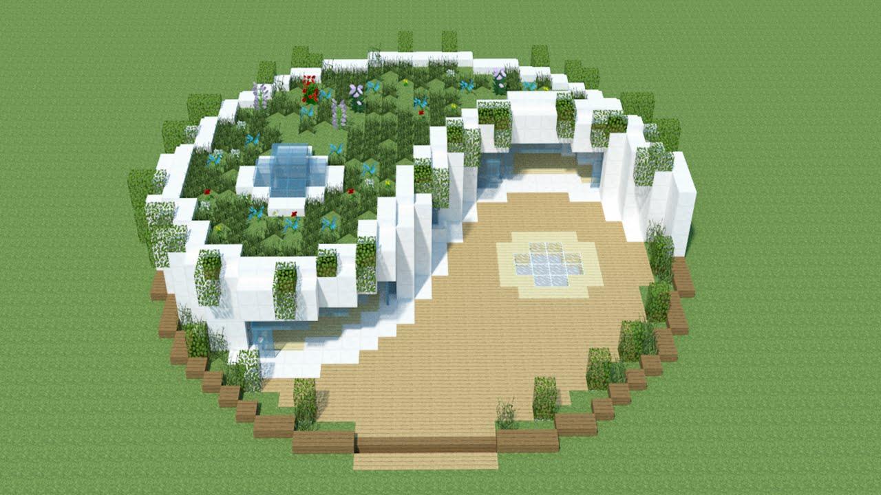 Minecraft tuto maison moderne yin yang download for Tuto maison moderne