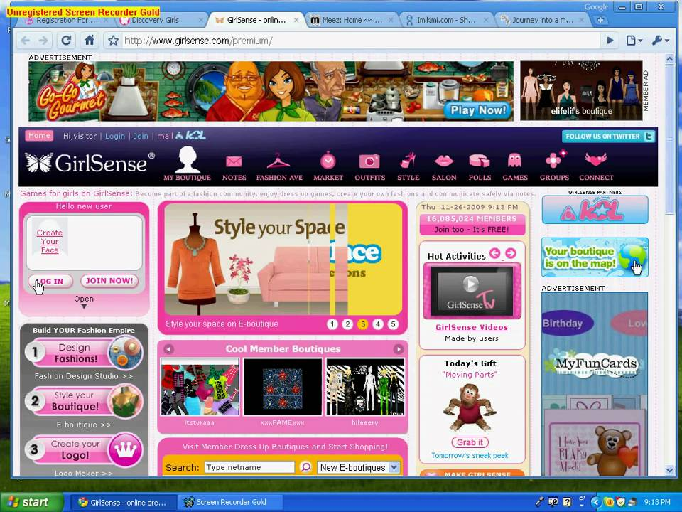 Fun sites for tweens