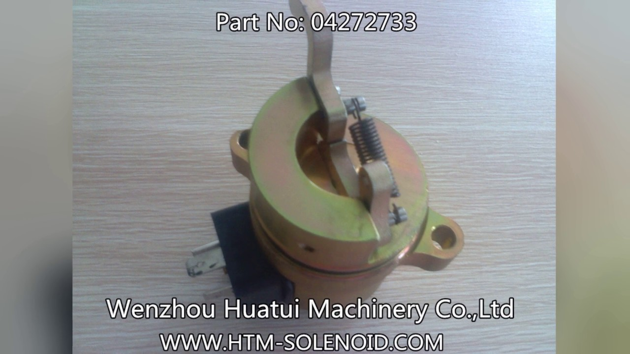 [HUATUI] 04272733 12V Fuel Shut Off Solenoid For DEUTZ BF4M1011F Case Kubota