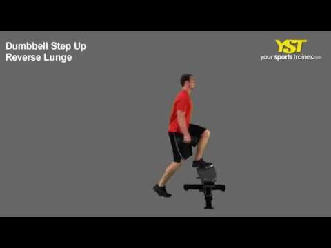 Dumbbell Step Up to Reverse Lunge
