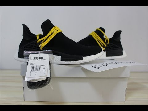 adidas PW Human Race NMD Yellow Black 9 C PACKER SHOES