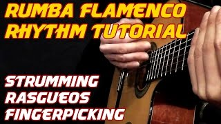 How to play Spanish Guitar. Flamenco Rumba Latin Rhythms. Lesson/Tutorial