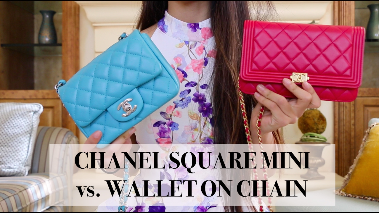 Mini Vs Woc Chanel Woc Square Mini Comparison What Fits In My Bag