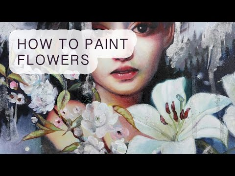 Painting Tutorial: How to paint flowers