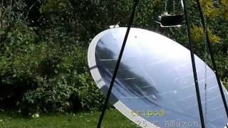 solar cooking: How to build a solar cooker from a satellite dish