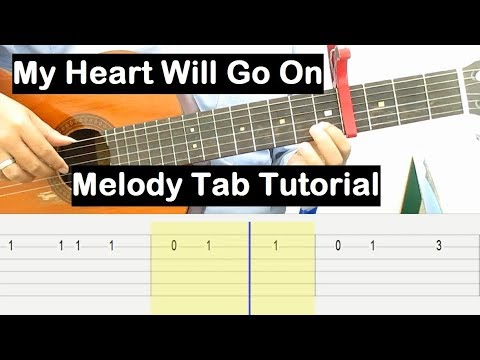 My Heart Will Go On Guitar Lesson Melody Tab Tutorial Guitar Lessons for Beginners thumbnail