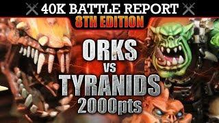 Orks vs Tyranids Warhammer 40K Battle Report MEAT'S BACK ON THE MEN...