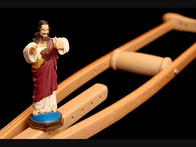 Christ on a crutch