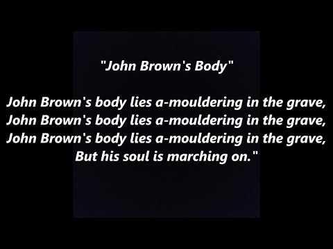 John Brown's Body song words lyrics best top popular favorite trending sing along song songs