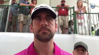 Packers QB Aaron Rodgers on Tom Brady and longevity at #BMWCharityProAm