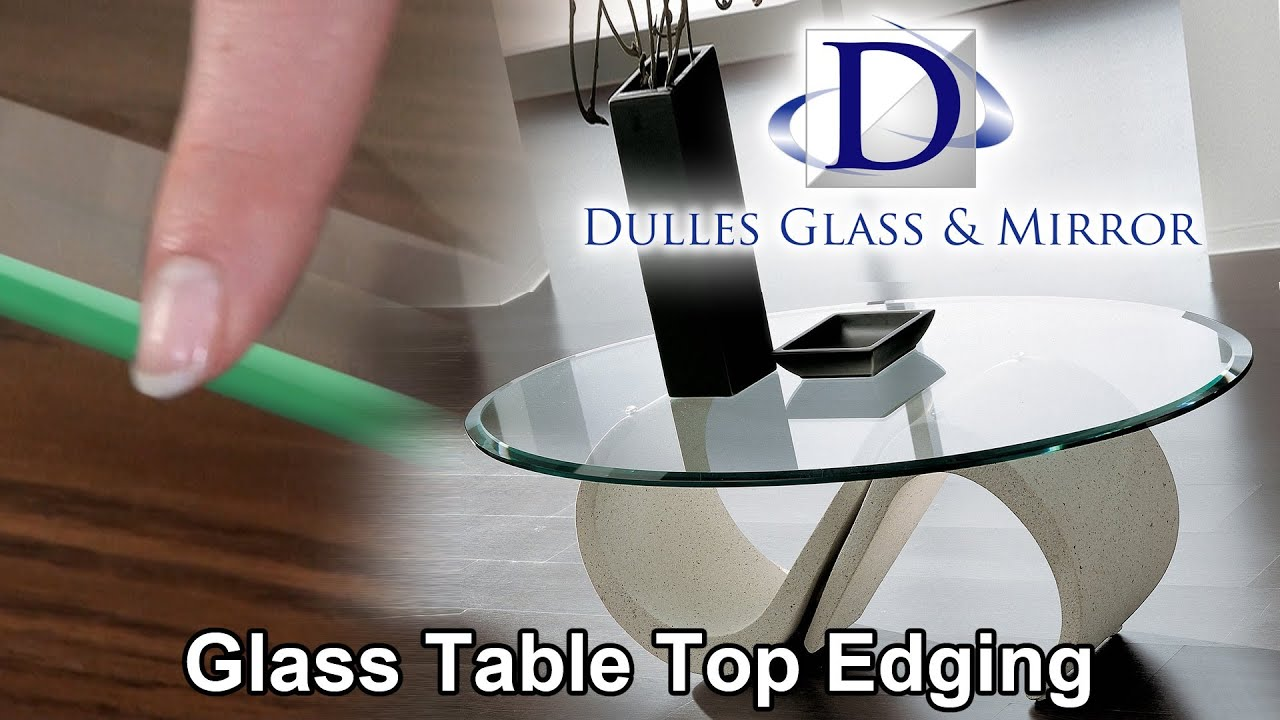 Dulles Gl Mirror Table Top Edging
