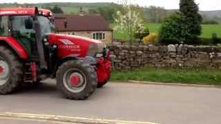 Huge Tractor Rally through Osmotherley, North Yorkshire.