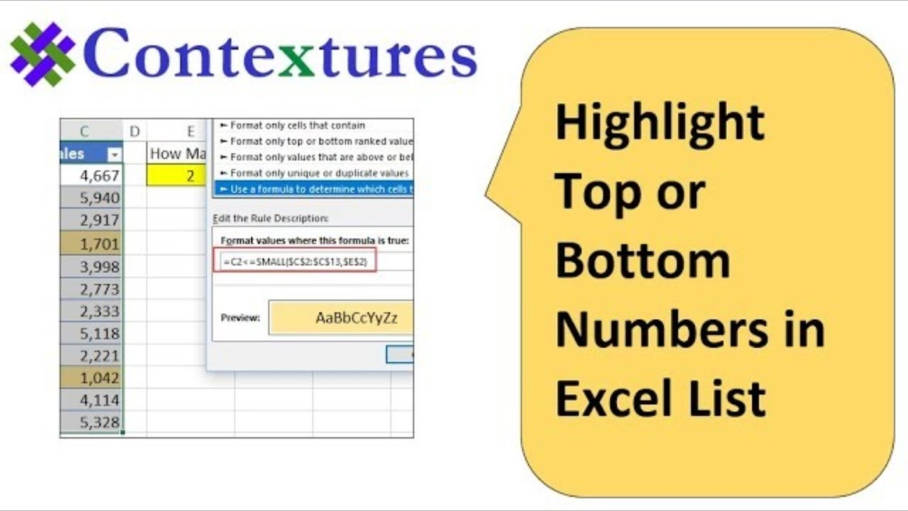 Excel Conditional Formatting -- Examples