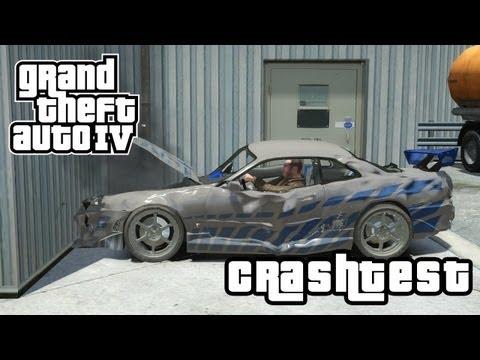"Nissan Skyline ""2 Fast 2 Furious"" CRASHTEST (GTA IV Mod)"