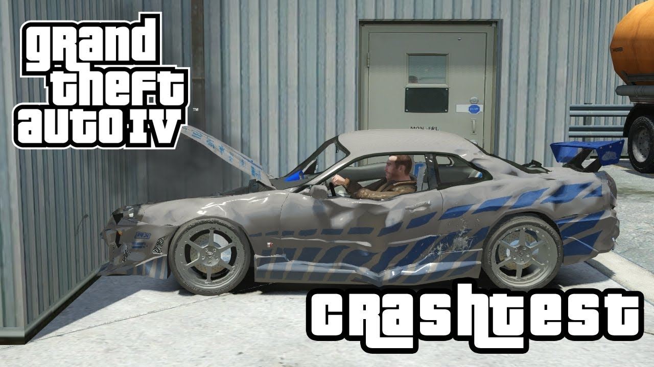 Nissan Skyline 2 Fast Furious CRASHTEST GTA IV Mod