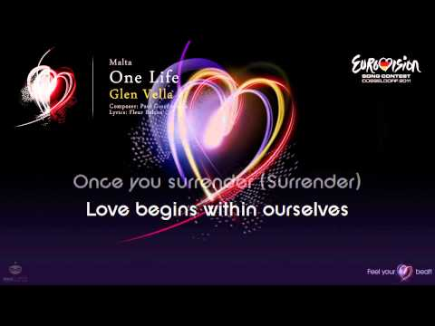 "Glen Vella - ""One Life"" (Malta) - [Karaoke version]"