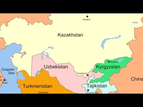 Kazakhstan, Uzbekistan, Turkmenistan,Tajikistan & Kyrgyzstan