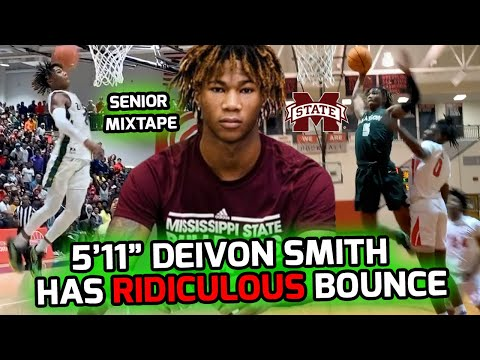 "5'11"" Deivon Smith Lives Life ABOVE THE RIM! Mississippi State Commit Official Senior Mix 🔥"