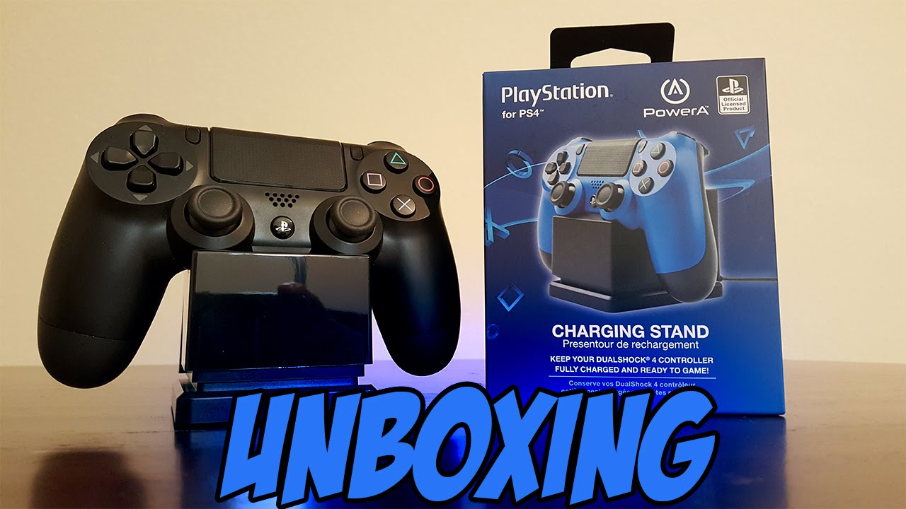 PowerA Charging Stand For Sony PS4 Dual Shock 4 Controller Unboxing YouTube