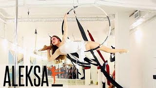 Танец на воздушном кольце - воздушная гимнастика, акробатика - Олеся Хмиляр, тренер Aleksa Studio