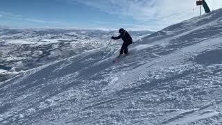 Dorothy Johnston skiing Deer Valley 1-3-2020