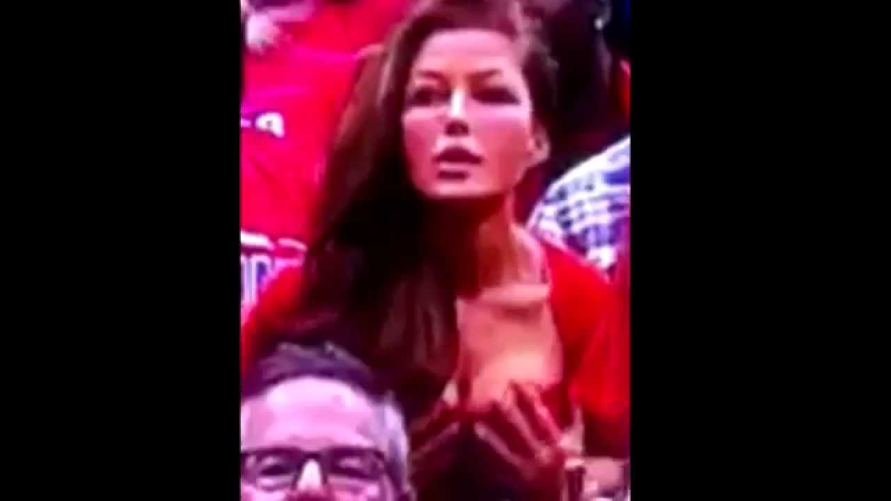 Rebecca Grant Tits Beautiful stunning brunette rebecca grant fondles herself at clippers game