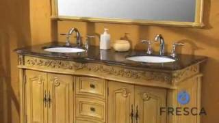 Fresca Fairbank Traditional Double Sink Bathroom Vanity - FVN6345
