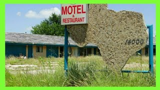 ABANDONED ROUTE 66 MOTEL AND RESTAURANT IN TEXAS