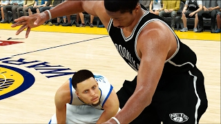 Giant Brooklyn Nets VS Tiny Golden State Warriors | NBA 2K17 Challenge