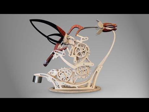 An Elegant Kinetic Sculpture by Derek Hugger that Mimics the Flight of a Hummingbird | Colossal