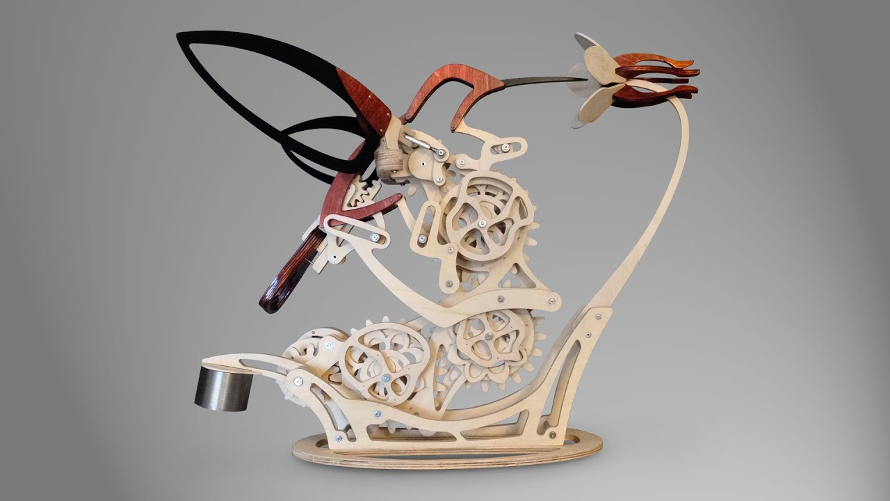 Wood Kinetic Motion Sculpture
