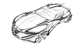 How To Sketch a Car (Bird Eye View)