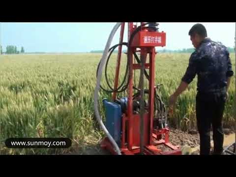 How to drill a water well? Diesel engine hydraulic water well drilling rig