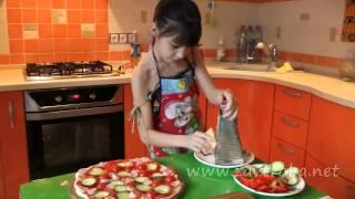 Как приготовить пиццу   домашняя пицца из слоёного теста