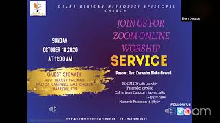 Worship Service, October 18 2020