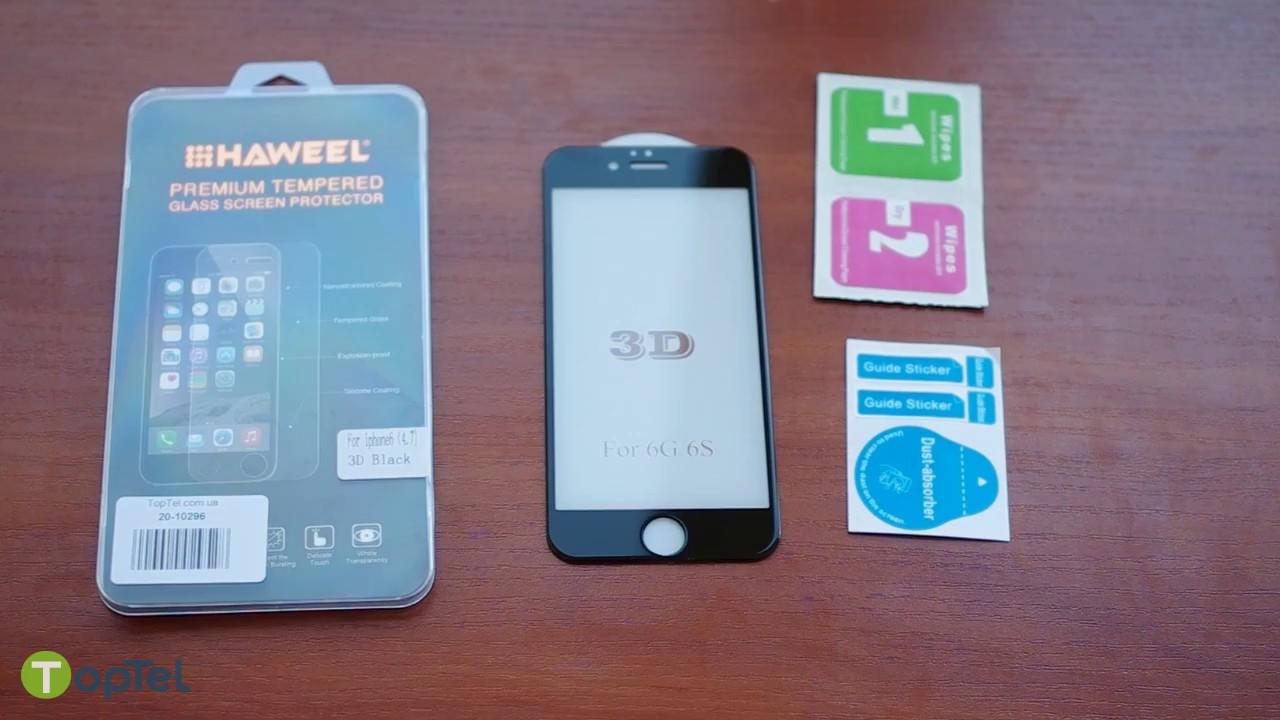 b91f4ad49869 Защитное 3D стекло для iPhone 6, 6S - поклейка, обзор от интернет магазина  TopTel - YouTube