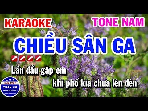 Chiều Sân Ga Karaoke Tone Nam Bm Nhạc Sống Dễ Hát | Karaoke Tuấn Cò