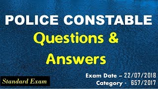 Police Constable 2018 Questions and Answers Gurukulam Online PSC Coaching Classes