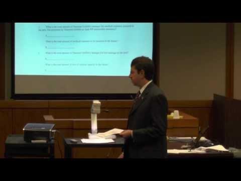 Closing Arguments in a whplash soft tissue injury trial Sarasota Florida
