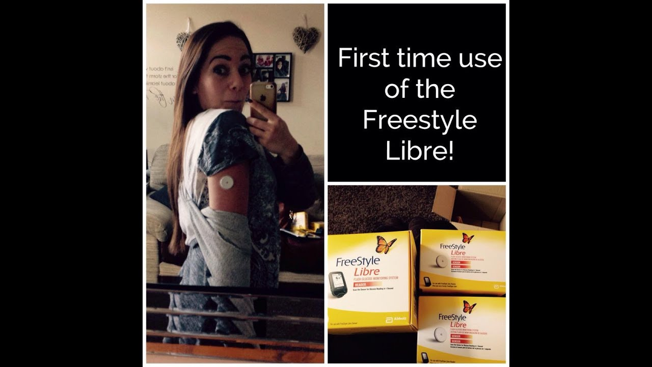 Freestyle Libre Sensor First Insertion Youtube